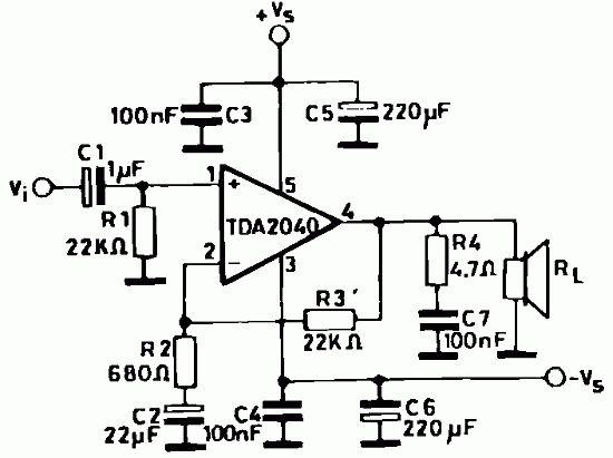100 watt power amplifier with ic tda1514