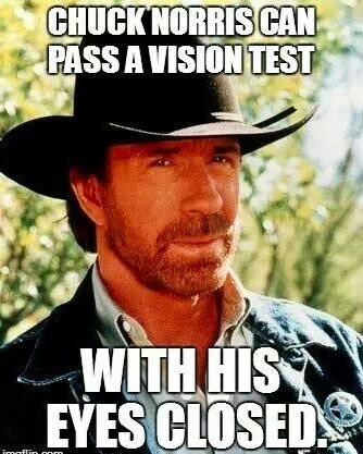 The easiest way to determine Chuck Norris' age is to cut him in half and count the rings.   Chuck Norris's brain waves are suspected to be harmful to cell phones.