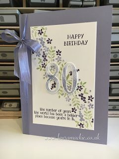 Stampin' Up! UK Demonstrator Laura Mackie: Stampin' Up! Number of Years birthday card