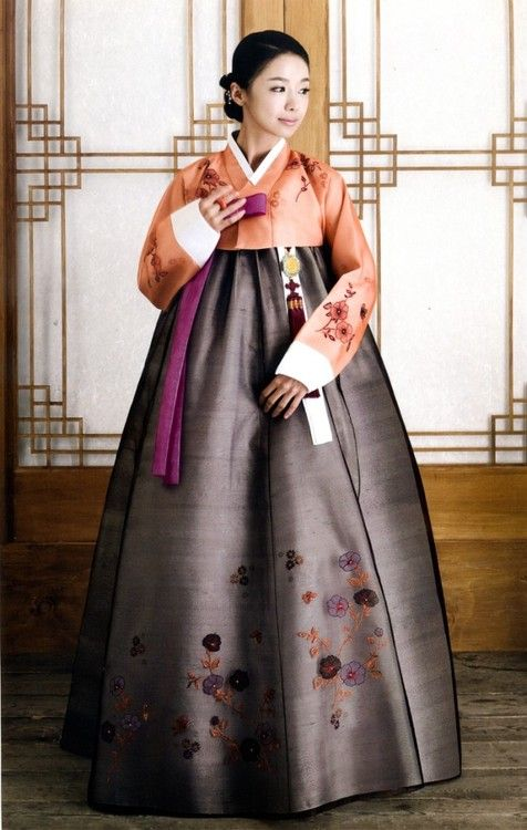 "This is called a ""Hanbok"" and it's a traditional dress worn by women in the older days but now it's only worn for special holidays! It's gorgeous. <3"