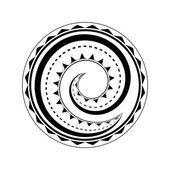 Maori tattoo design — Stock Illustration
