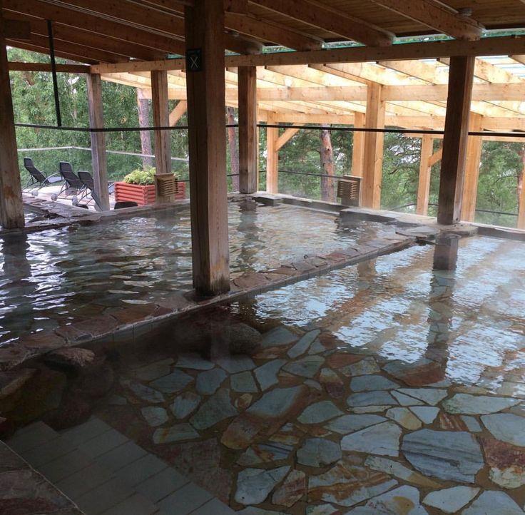 Yasuragi Spa, un trocito de Japón en Suecia. Aguas calentitas, el mejor momento para ir es en invierno, tu dentro del agua y el paisaje nevado. it's a dream.