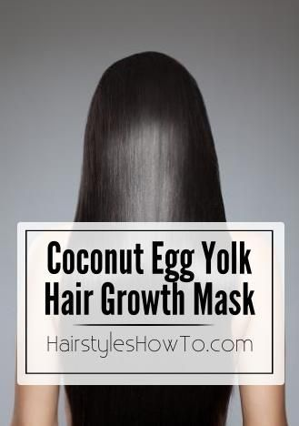 To get long sleek & shiny hair just mix 1 egg yolk with 2 tbsp. coconut oil…