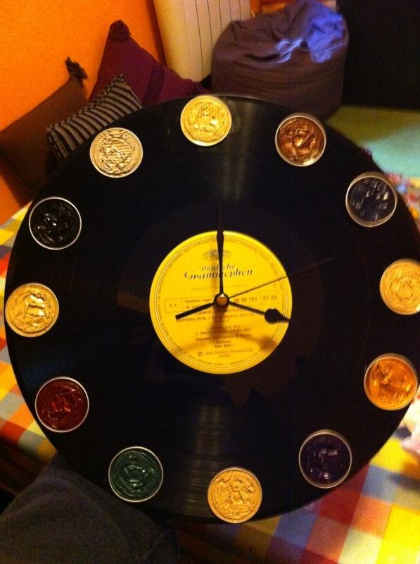 Rellotge amb disc i càpsules