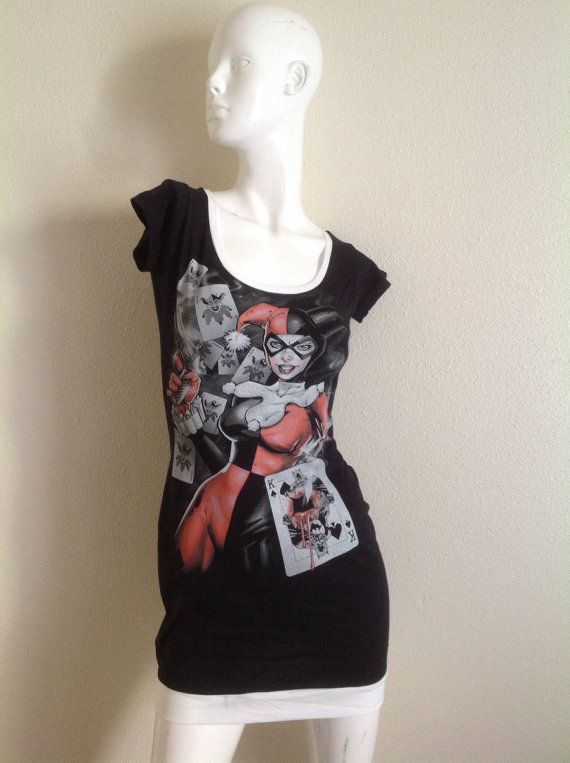DC Comic  Batman's Harley Quinn Scoop neck dress on Etsy, $42.00 @Cait Longtonín McGowan