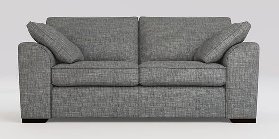 Buy Stamford Medium Sofa (3 Seats) Boucle Weave Dark Grey Large Square Angle - Dark from the Next UK online shop