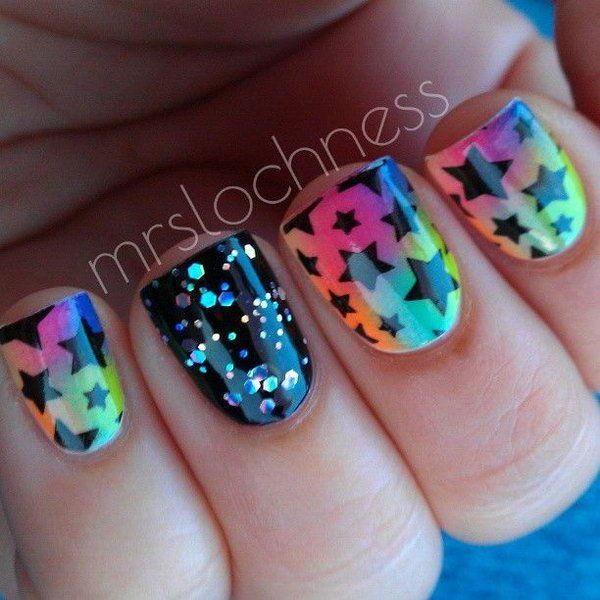 Best 25 star nail designs ideas on pinterest fun nails 17 stunning star nail designs for fashionistas 5 magical star nail design prinsesfo Images