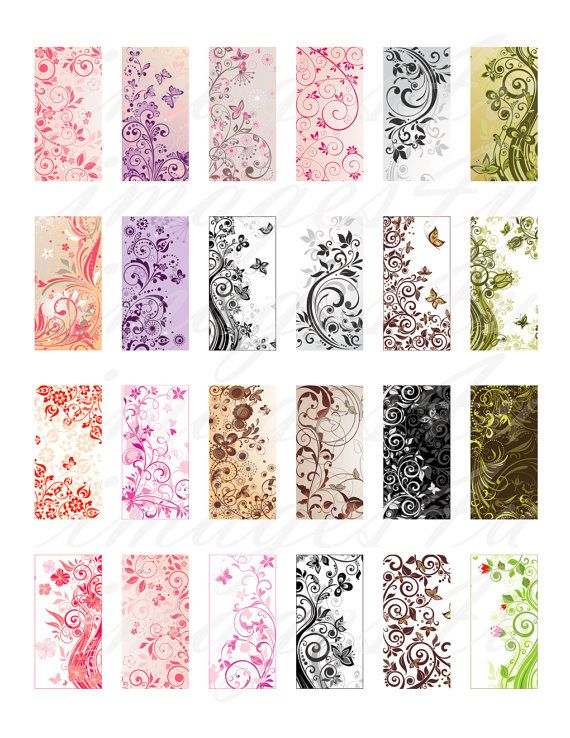 Floral Swirls printable download art images for by images4you