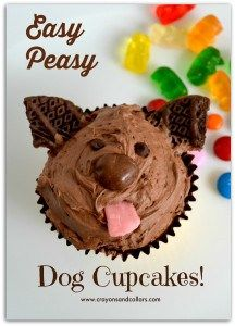Easy dog cupcakes from www.crayonsandcollars.com
