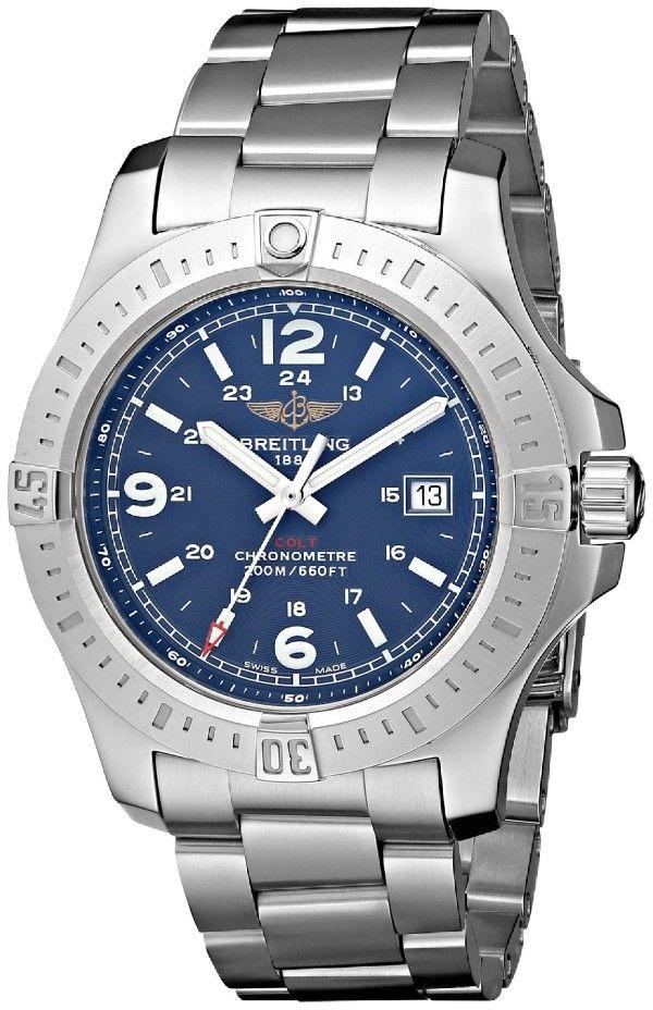 men watches: Breitling Men's BTA7438811-C907SS Colt Quartz Analog Display Quartz Silver Watch Men's watches store