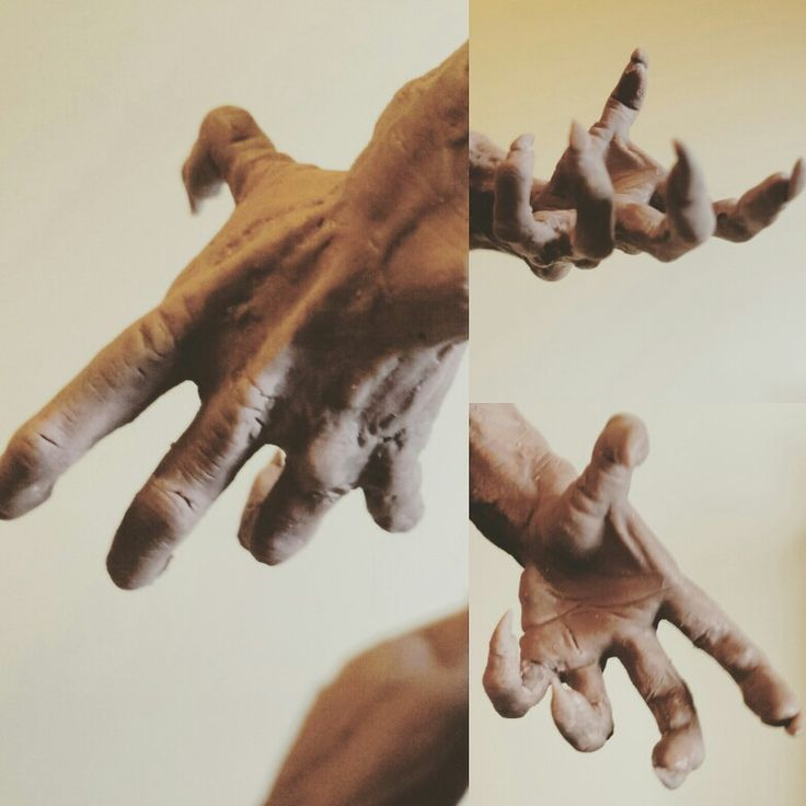 Monster clay creature hand.