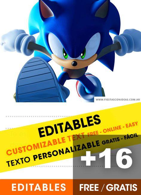 [+16] Sonic the hedgehog birthday invitations Free