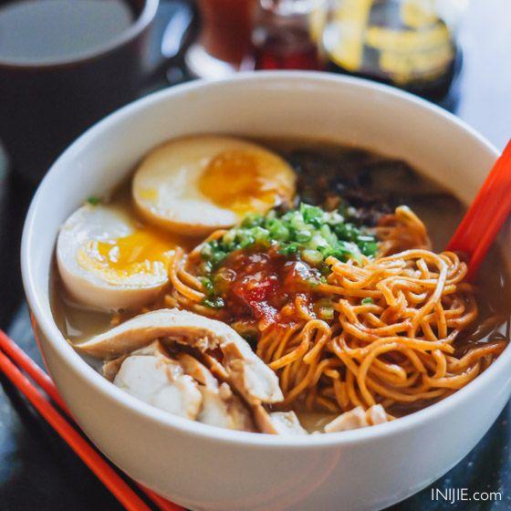 Ramen Nozomi-Chicken Red Spicy Ramen. Address : Jl. M.H Thamrin 77 - 79 Surabaya Phone : (031) 5680586