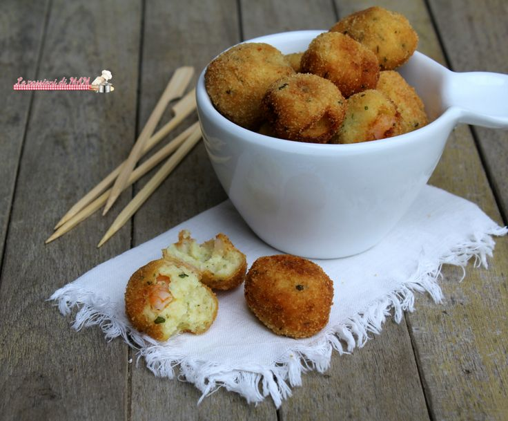 crocchette di patate e gamberi