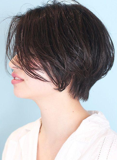 30代40代 大人のひし形ショートボブ 髪型ショートヘア ショートボブ 髪型 ヘアスタイル