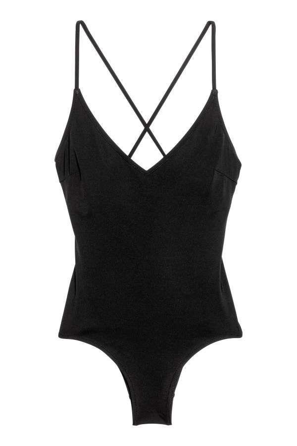 Hm H M V Neck Swimsuit Black Women Products Swimsuits