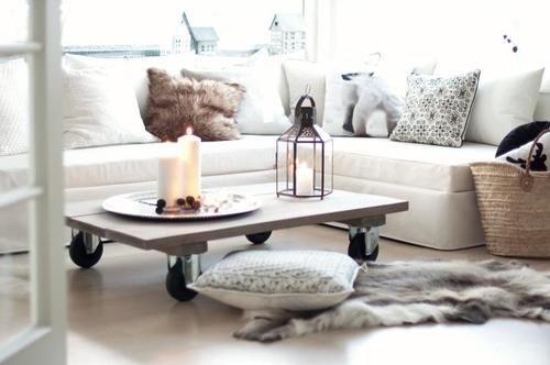sohvapöytä (Vaaleanpunainen pilvenhattara)