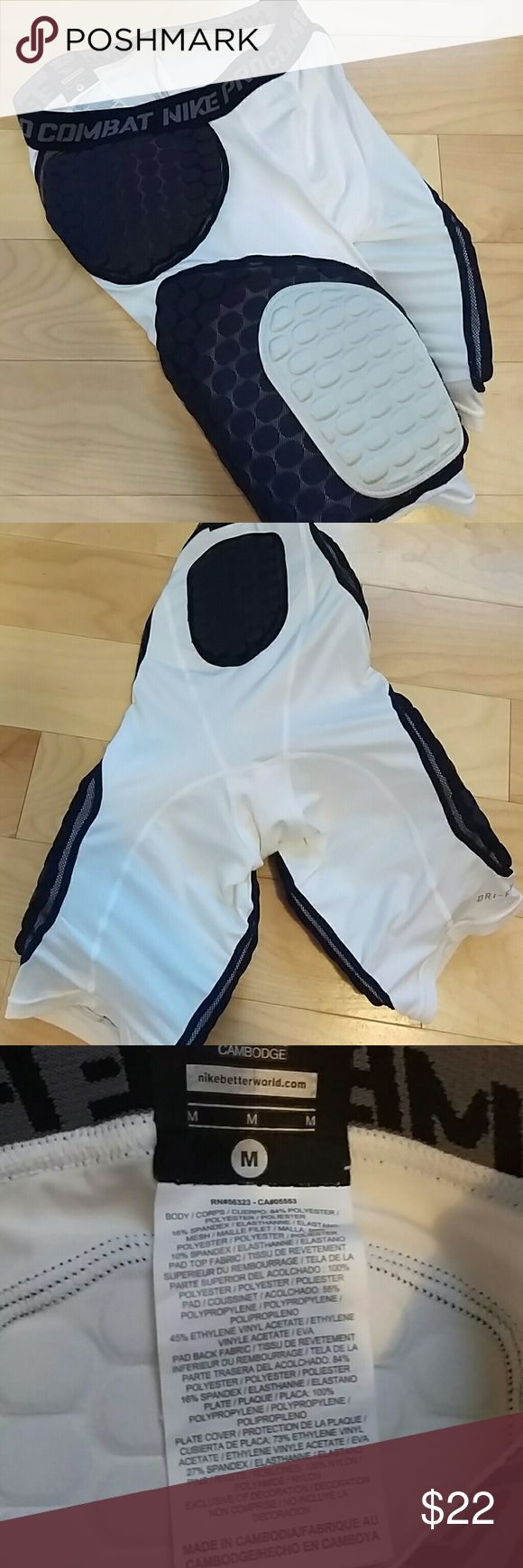 Nike Pro Combat Football Padded Shorts - Football padded compression shorts.  - High quality no damage. - Recommended for highschool football. - Fast and reliable shipper.  - Feel free to ask questions, make an offer, or request a specific photo. Nike Shorts Athletic