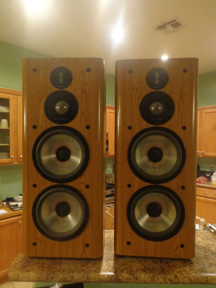PAIR OF INFINITY RS 6000 AUDIOPHILE SPEAKERS EMIT & POLYDOME MADE IN USA #Infinity