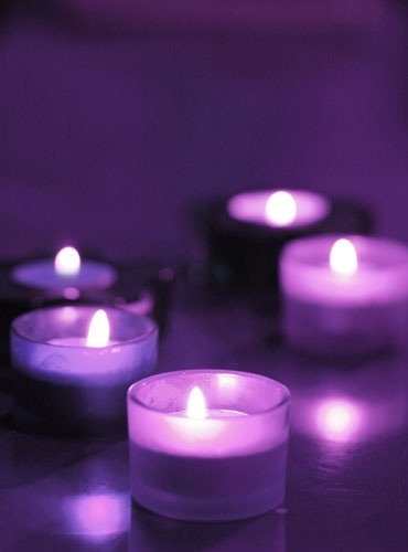Purple candle light... love this color!