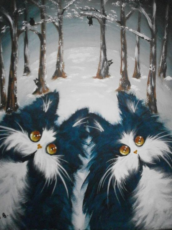 Buy Snow cats, Acrylic painting by Alan Brunt on Artfinder. Discover thousands of other original paintings, prints, sculptures and photography from independent artists.