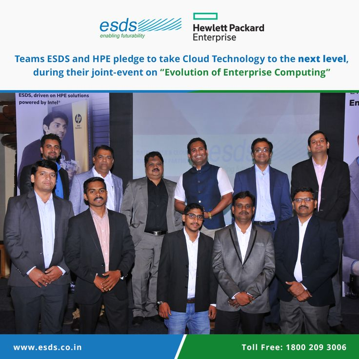 ESDS - Fully Managed Datacenter and HPE Converged Datacenter Infrastructure host a joint event expressing views for the #future #EnterpriseCloudComputing