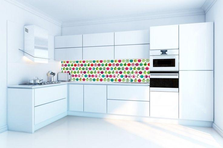 Formica Keuken Achterwand : Keuken behang achterwand Kitchen Walls retro appel http://www.funky