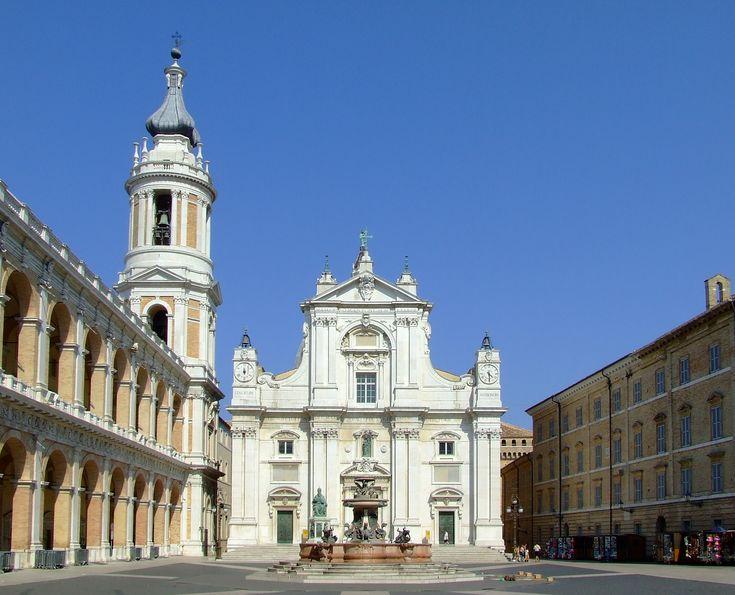 Basilica Della Santa Casa Is A Catholic Place Of Pilgrimage In Loreto,  Italy, Containing