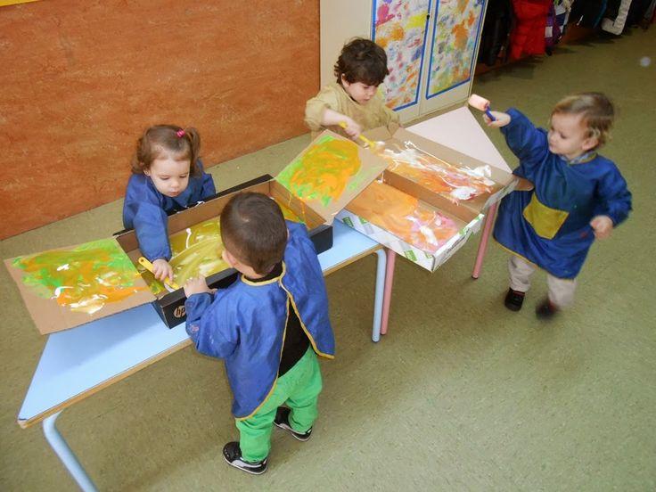 ESCUELA INFANTIL TALIN 2: Pintando cajas