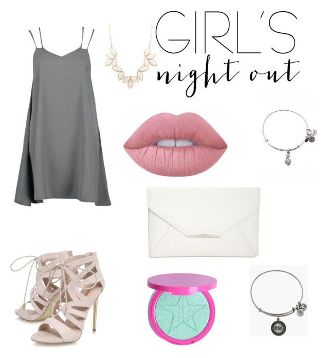 """""""Bar looks: Girls Night Out"""" by amandadattilo on Polyvore featuring Carvela, Style & Co., Jeffree Star, Lime Crime, Charlotte Russe, Alex and Ani and girlsnightout"""