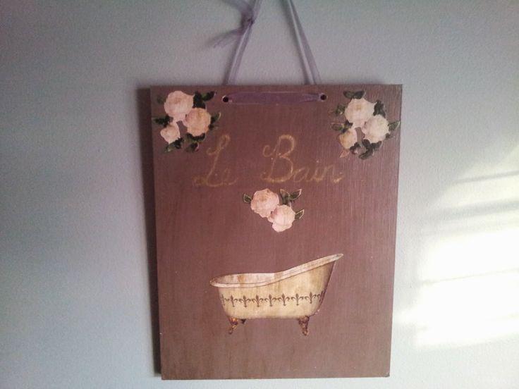 Le Bain Plaquette handmade by Funky-Junk