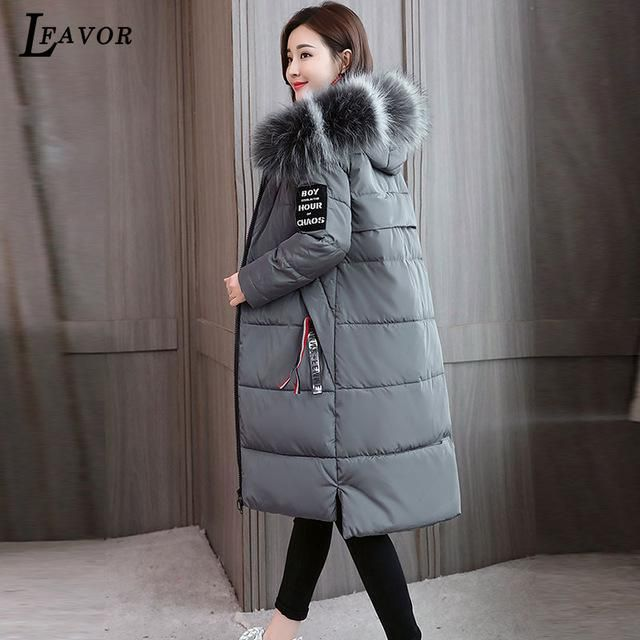 2018 7 Plus Size Winter Coat Women Thick Parka Jackets Loose Long Winter Down Cotton Jacket Hooded Warm Female Jacket Coat 330 g 2