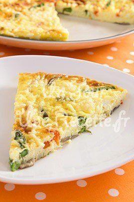 Hummm ! Omelette aux légumes :  une recette  Un Jour, Une Recette