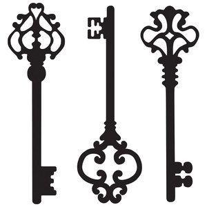 """Três chaves usadas em conjunto são ditas para destravar as portas de   1) riqueza,   2) saúde,   3) amor.  Os antigos gregos usavam uma chave como um símbolo de conhecimento e vida. Uma chave de ouro e prata cruzadas é um emblema papal de autoridade e se traduz em dizer as """"chaves do reino dos céus."""""""