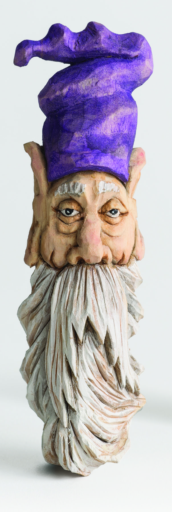 This little wizard was carved by Mike Pounders. Learn more ...