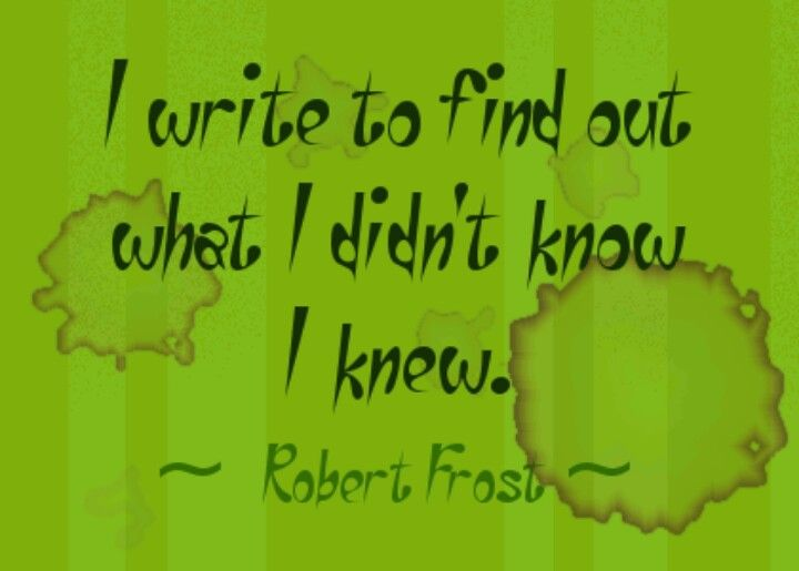 Robert Frost Writing On