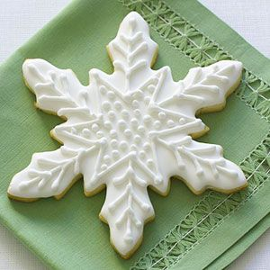Citrus Snowflake - must find a good snowflake cookie cutter & might add some citrus juice to the glaze :)