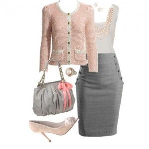 Faldas grises ejecutivas