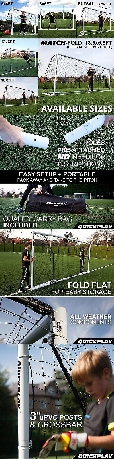 Goals and Nets 159180: Quickplay Pro Match-Fold Portable Soccer Goal 18.5 X 6.5 U9sandu10s Official Size -> BUY IT NOW ONLY: $349.99 on eBay!