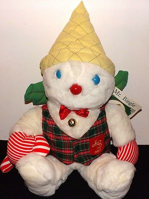 I have this Mr. Bingle....he lives in my closet and comes out at Christmas! The boys learned early on not to touch the Mr. Bingle. I guess I could've used him in an Elf on the Shelf kind of way. Instead they learned Mommy goes crazy if they touch Mr. Bingle. Nothing a little therapy won't cure...