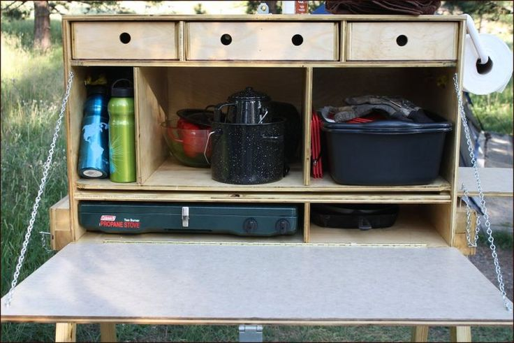 The Amazing Chuck Box. I like how the stove is stored on bottom (better weight distribution).