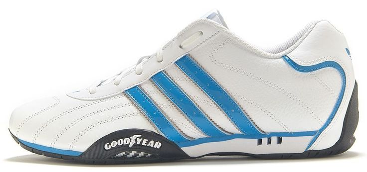 Adidas Originals: Goodyear Adi-Racer White & Blue Trainers D65636 #adidas #Trainers