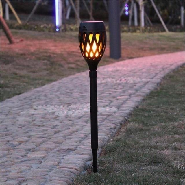 Luminaire Solaire De Jardin Effet Flamme Lampe Solaire Jardin Luminaire Solaire Eclairage Solaire