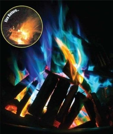Fire Crystals = cool colors in the fire that last a long time! | 32 Things You'll Totally Need When You Go Camping