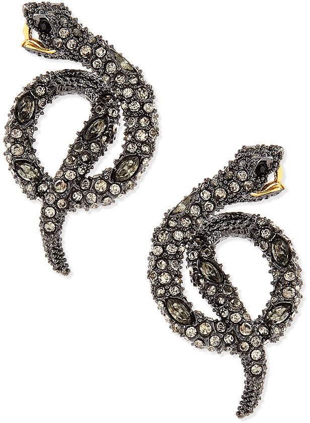 Alexis Bittar Elements Coiled Serpent Earrings