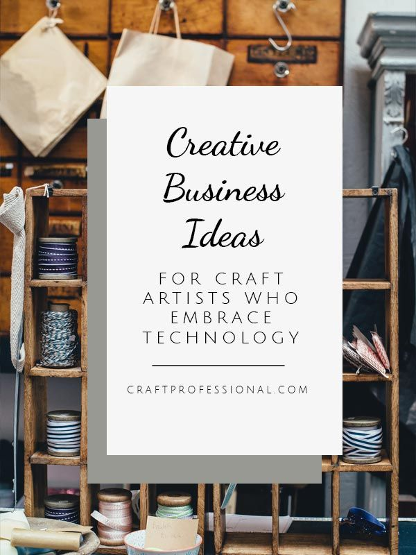 Lots of creative business ideas for craft business owners who are willing to embrace technology.  craftprofessional.com/creative-business-ideas.htmlhttp://www.craftprofessional.com/creative-business-ideas.html