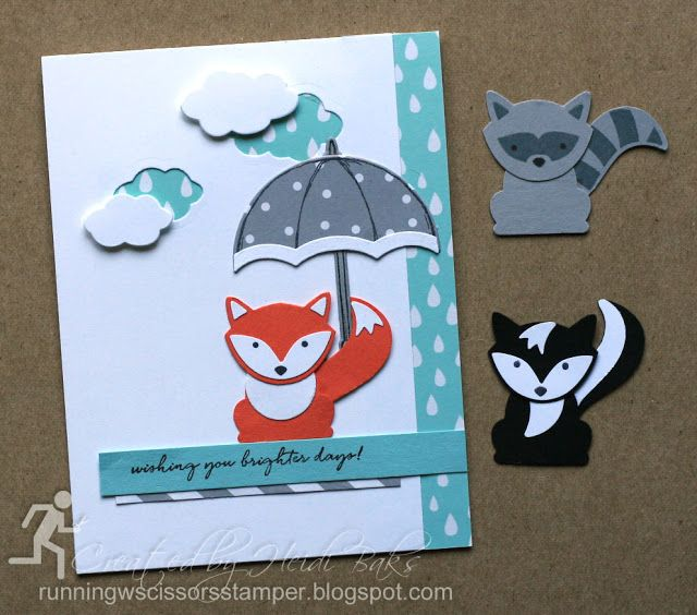 Stampin' Up Foxy Friends by #RunningwScissorsStamper, Weather Together, A Little Foxy DSP