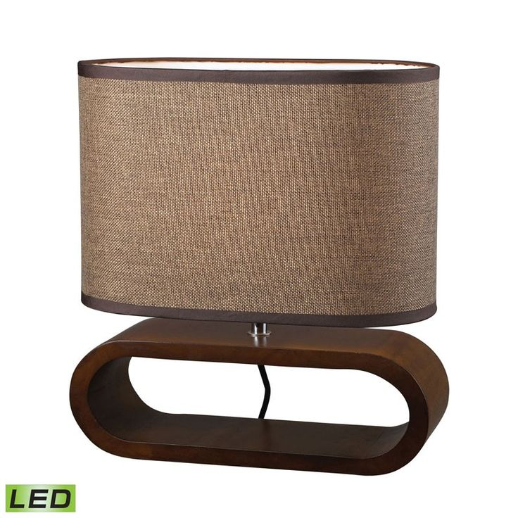 Dimond Lighting D153-LED Oval LED Table Lamp in Natural Stained Wood Brown – Table Lamps – Residential Lighting - GreyDock.com