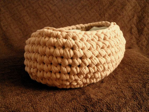 Newborn photography prop  Tan Beige Chunky Moses Style Basket Crochet by ShortMountain, $35.00