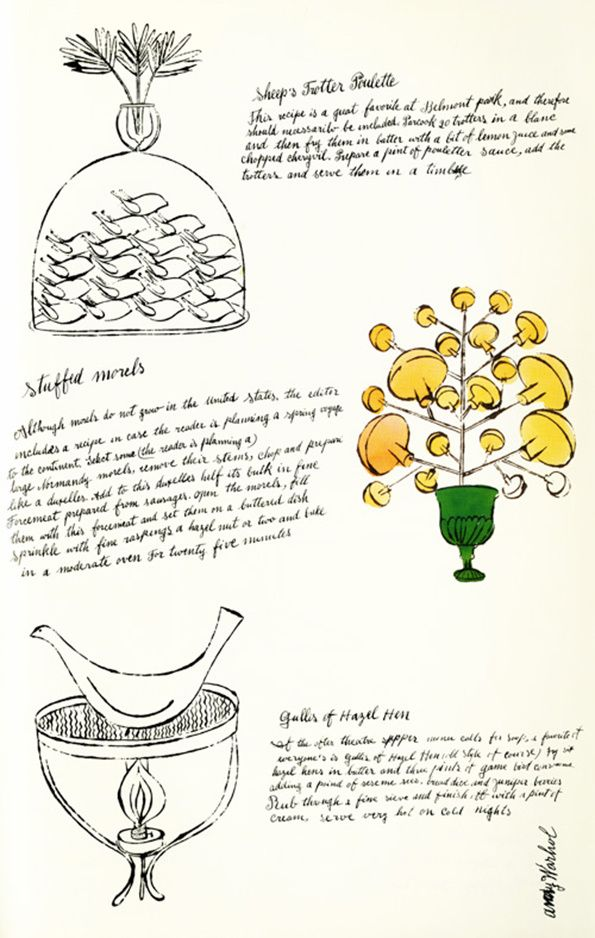 It's Nice That : Illustration: What a treat! Andy Warhol's fabulous drawings of cakes